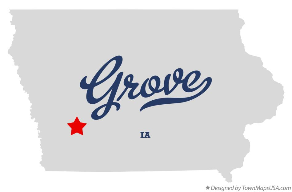 Map of Grove Iowa IA