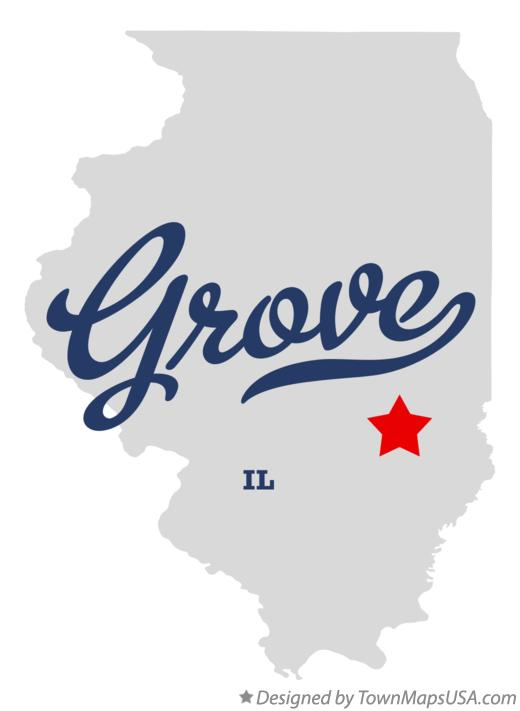 Map of Grove Illinois IL