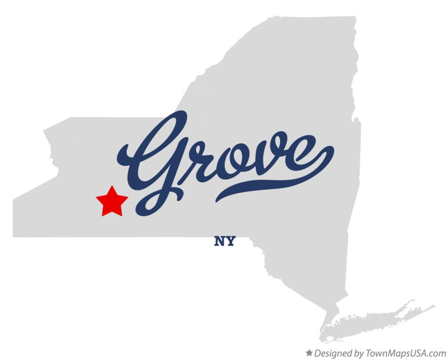 Map of Grove New York NY