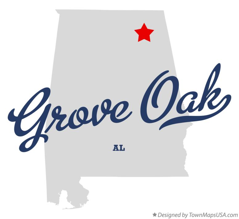 Map of Grove Oak Alabama AL
