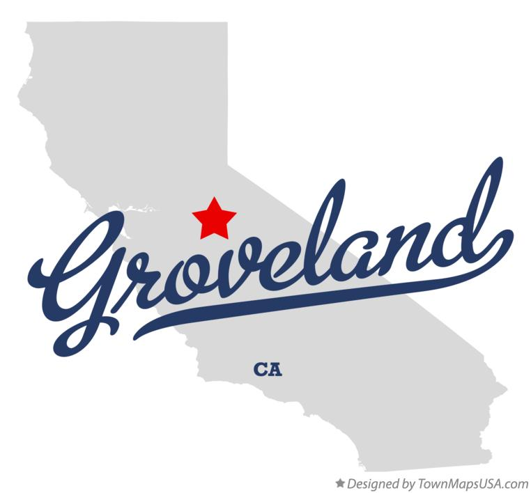 Map of Groveland California CA