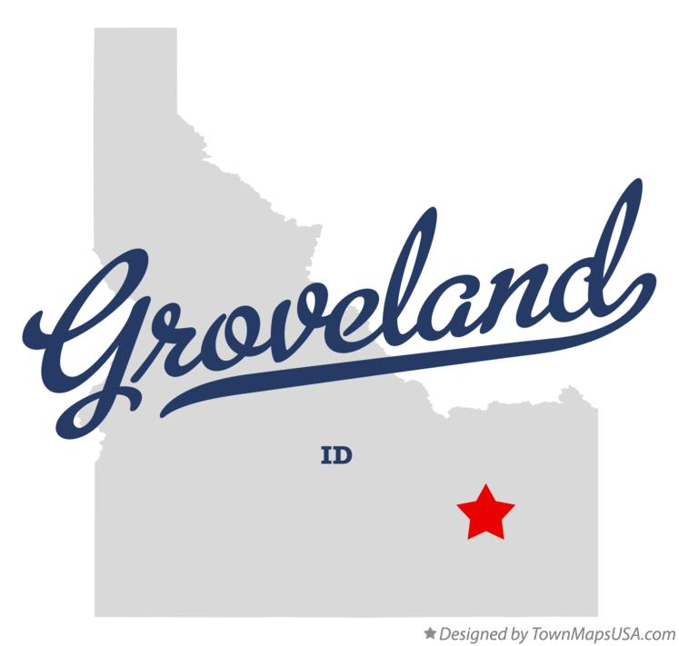 Map of Groveland Idaho ID