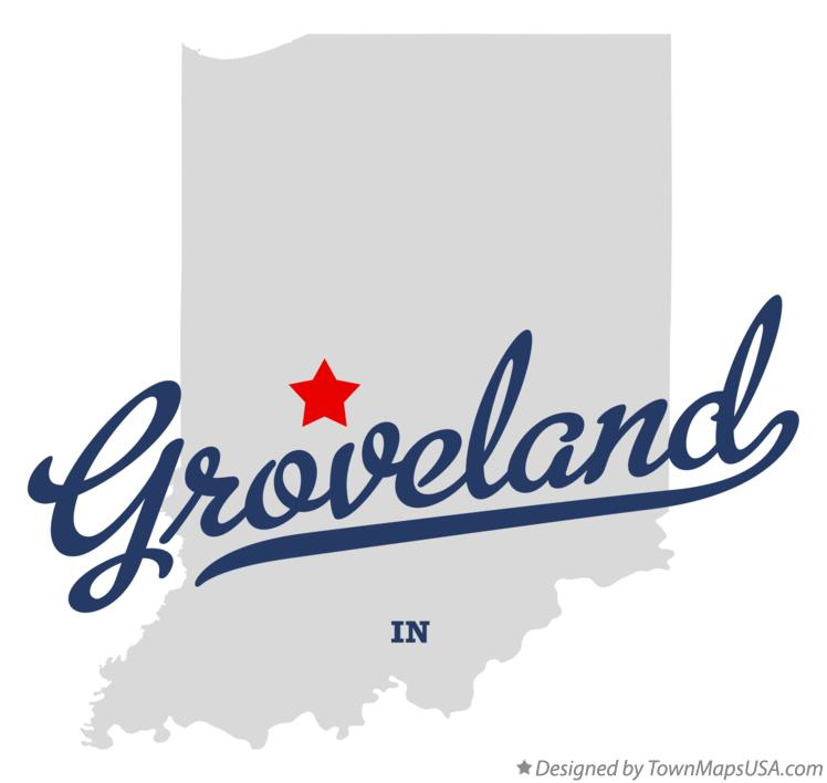 Map of Groveland Indiana IN