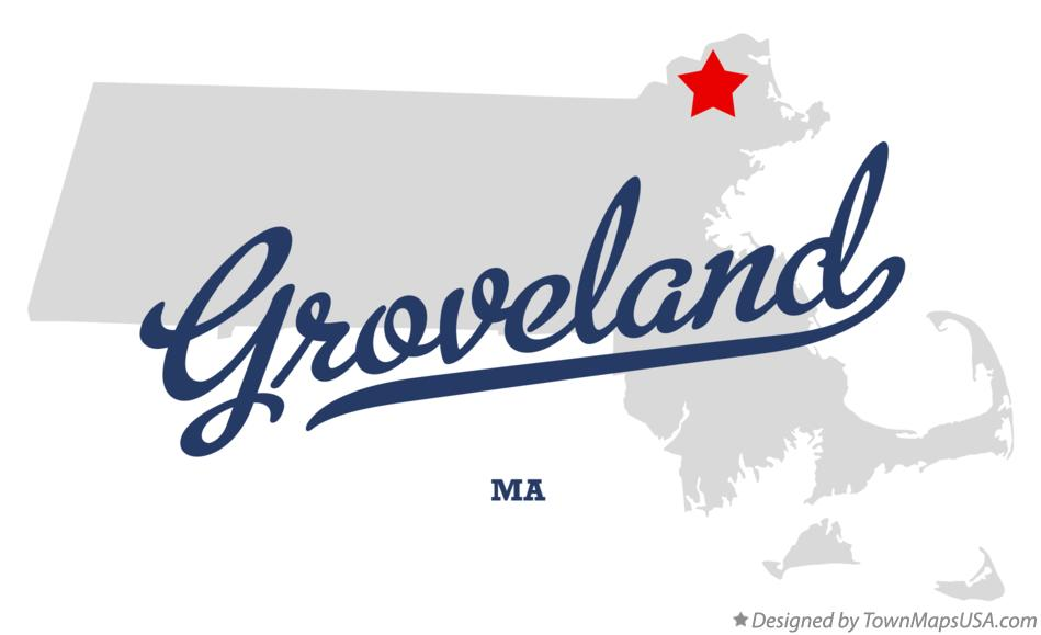 Map of Groveland Massachusetts MA