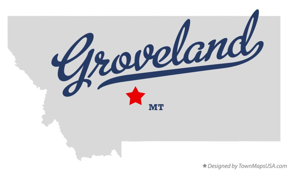 Map of Groveland Montana MT