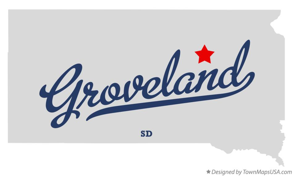 Map of Groveland South Dakota SD