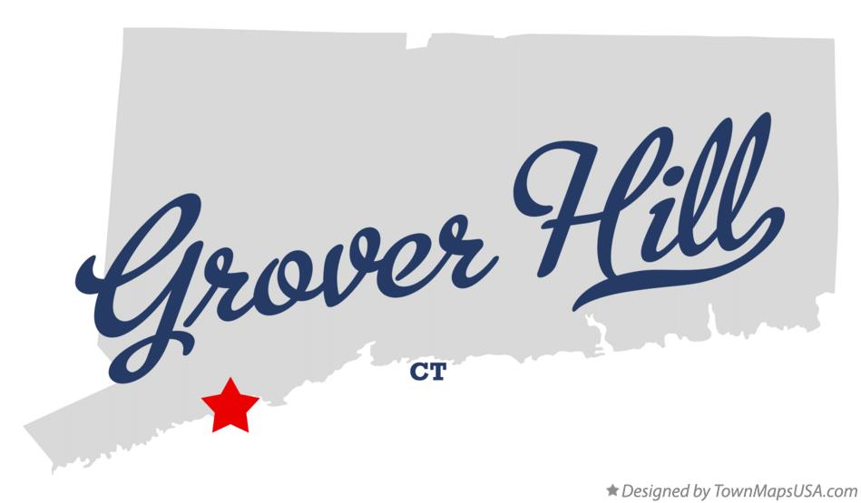 Map of Grover Hill Connecticut CT