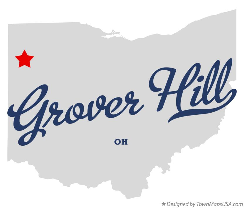 Map of Grover Hill Ohio OH