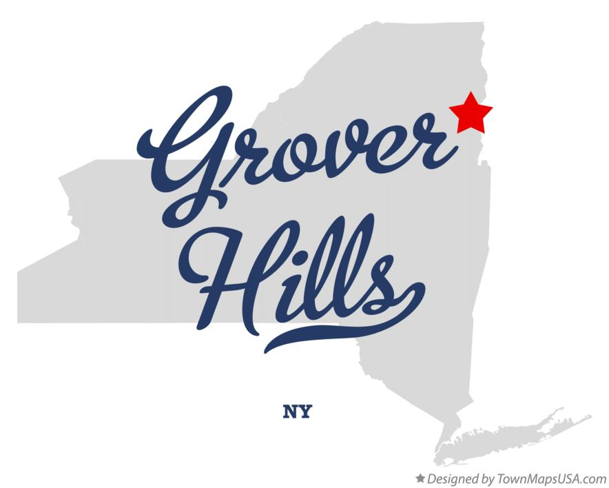 Map of Grover Hills New York NY