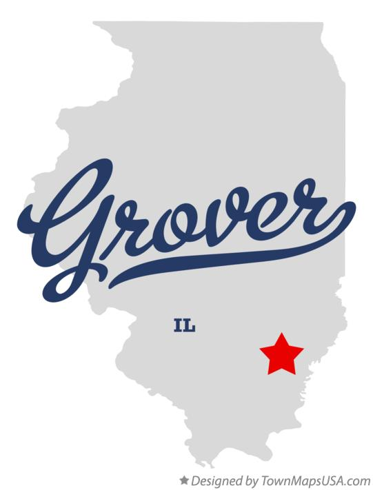 Map of Grover Illinois IL