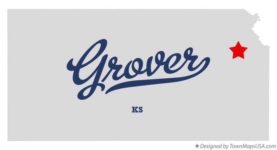 Map of Grover Kansas KS