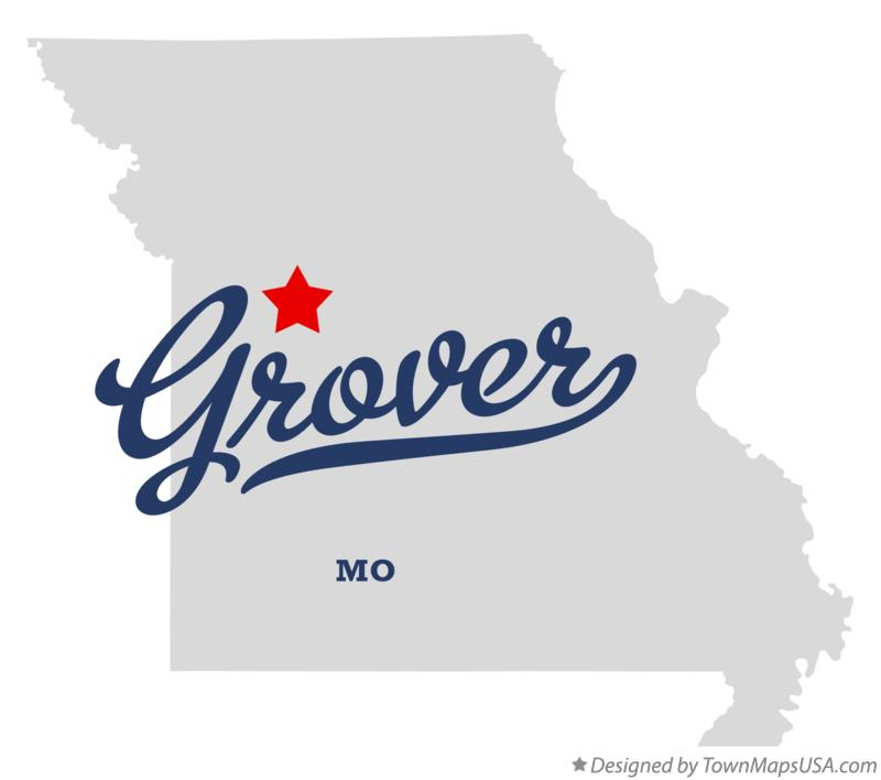 Map of Grover Missouri MO