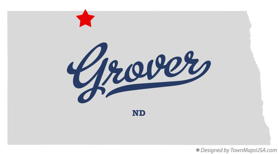 Map of Grover North Dakota ND