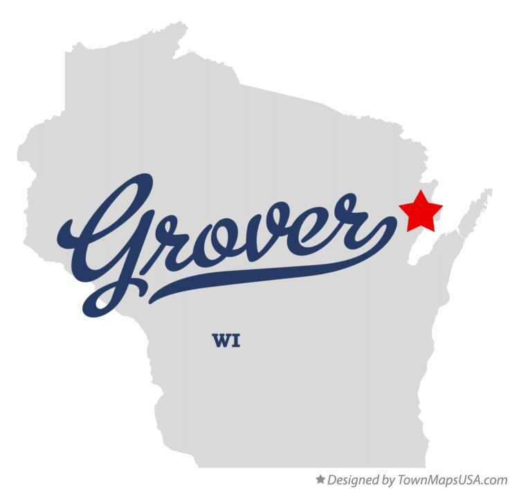 Map of Grover Wisconsin WI