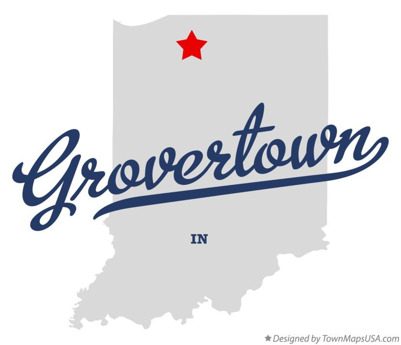Map of Grovertown Indiana IN