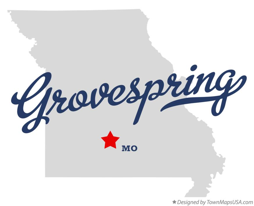Map of Grovespring Missouri MO