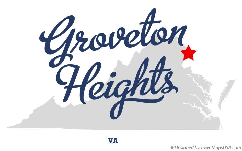 Map of Groveton Heights Virginia VA