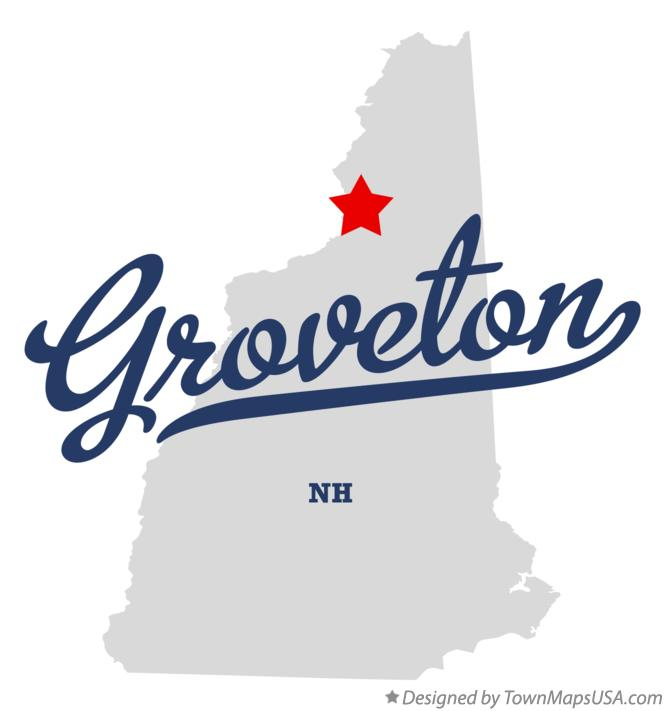 Map of Groveton New Hampshire NH