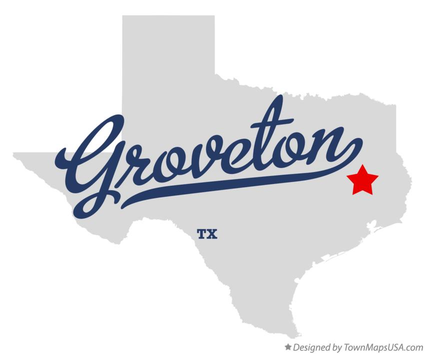 Map of Groveton Texas TX