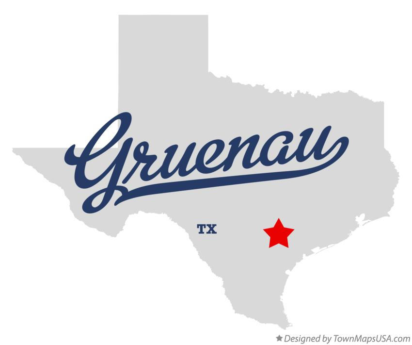 Map of Gruenau Texas TX