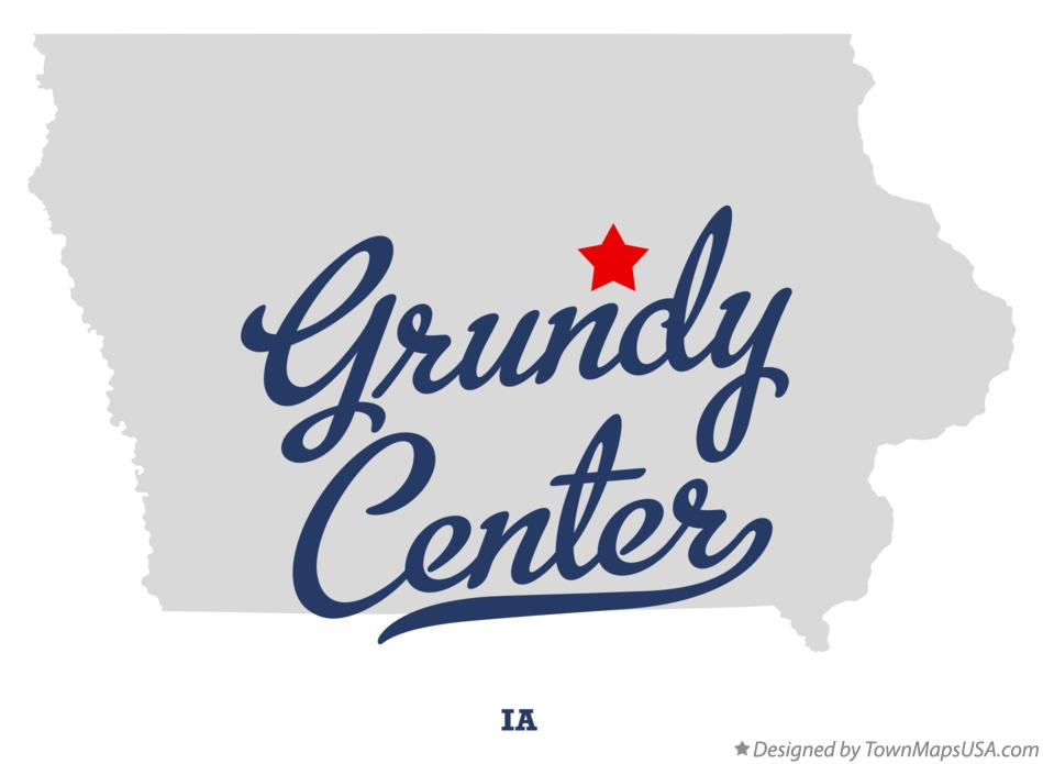 Map of Grundy Center Iowa IA