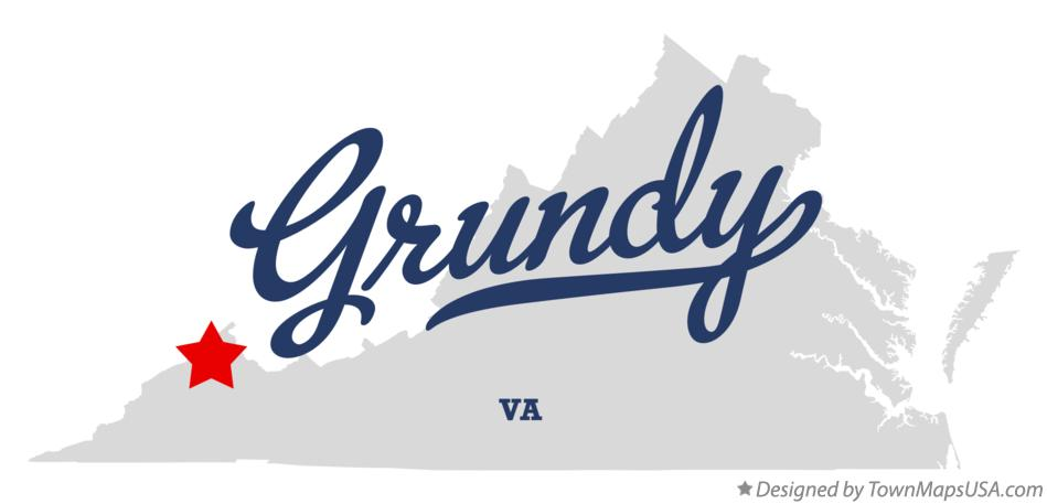 Map of Grundy Virginia VA