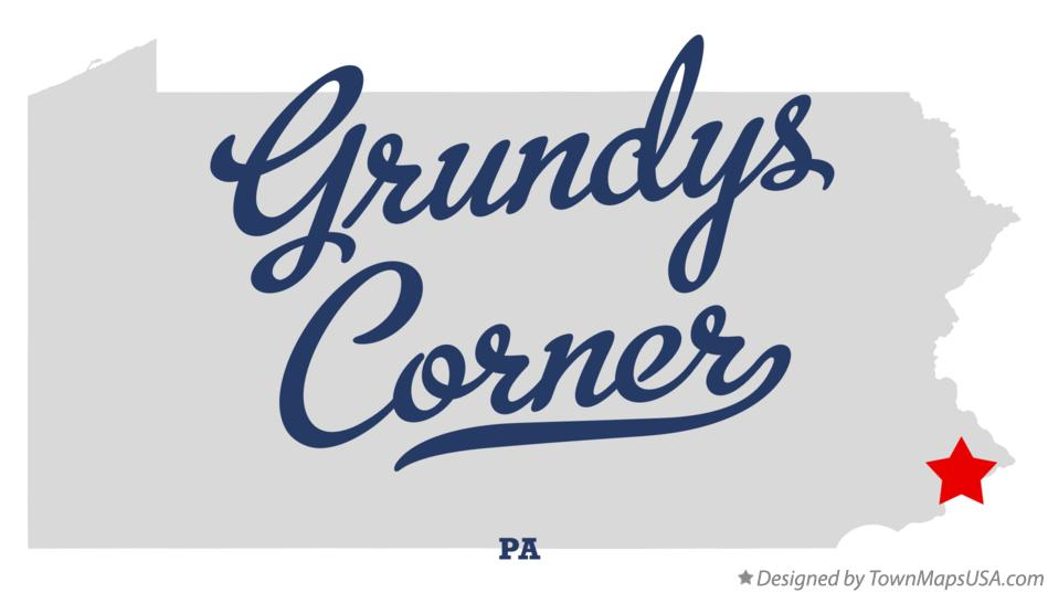 Map of Grundys Corner Pennsylvania PA