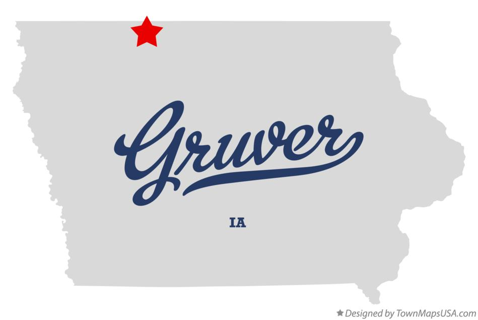 Map of Gruver Iowa IA