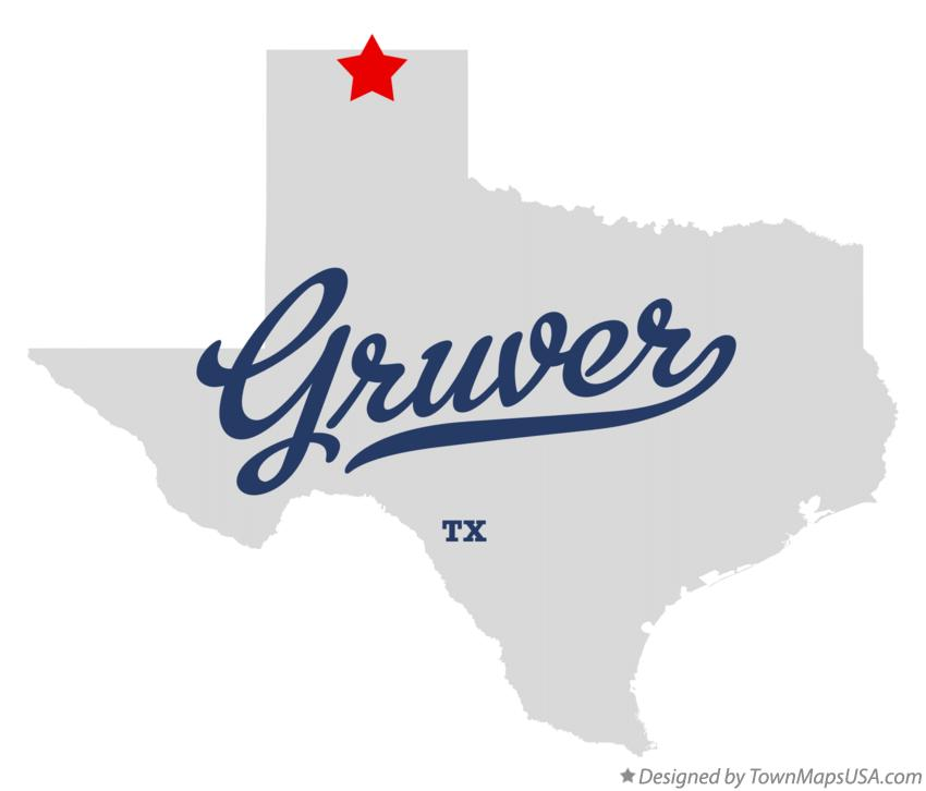 Map of Gruver Texas TX