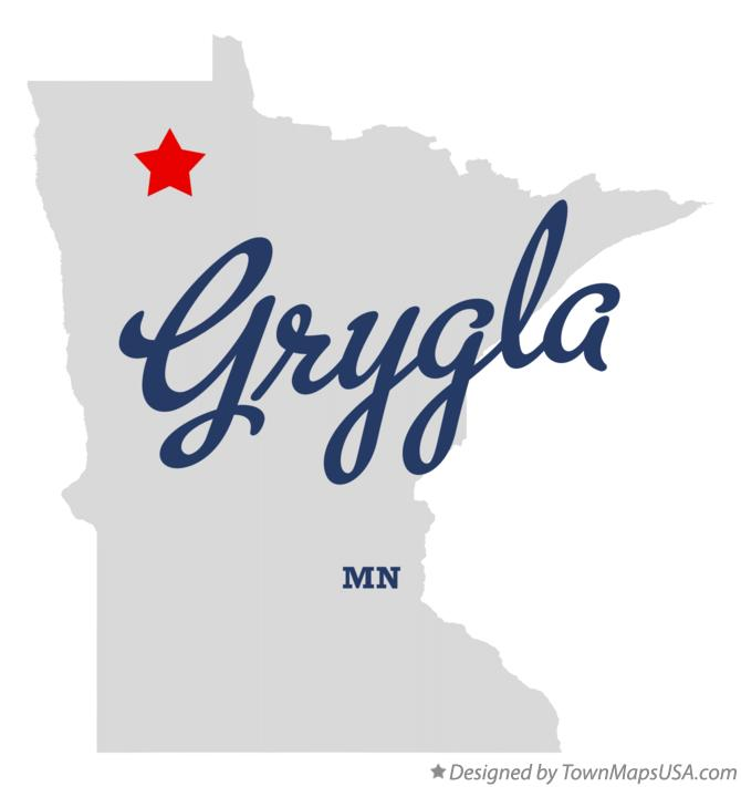 Map of Grygla Minnesota MN