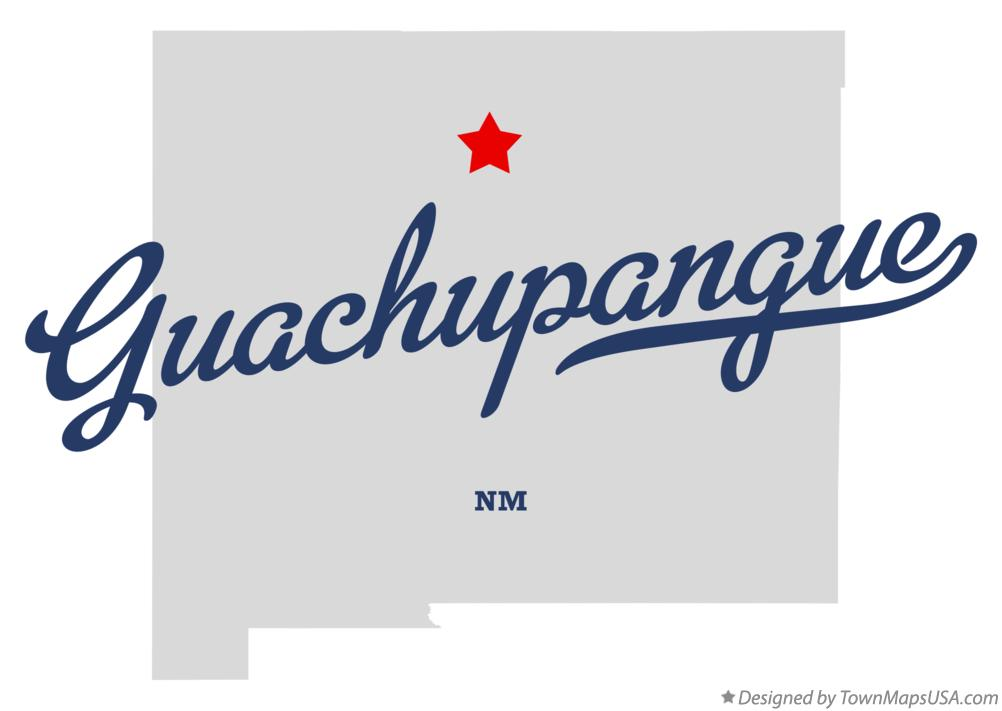 Map of Guachupangue New Mexico NM