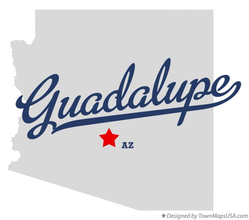 Map of Guadalupe Arizona AZ