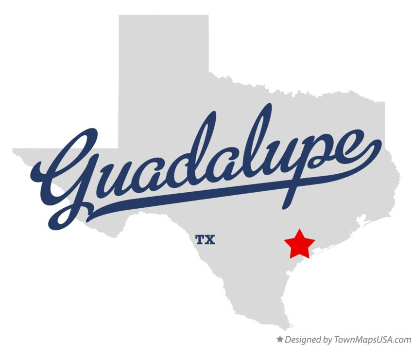 Map of Guadalupe Texas TX