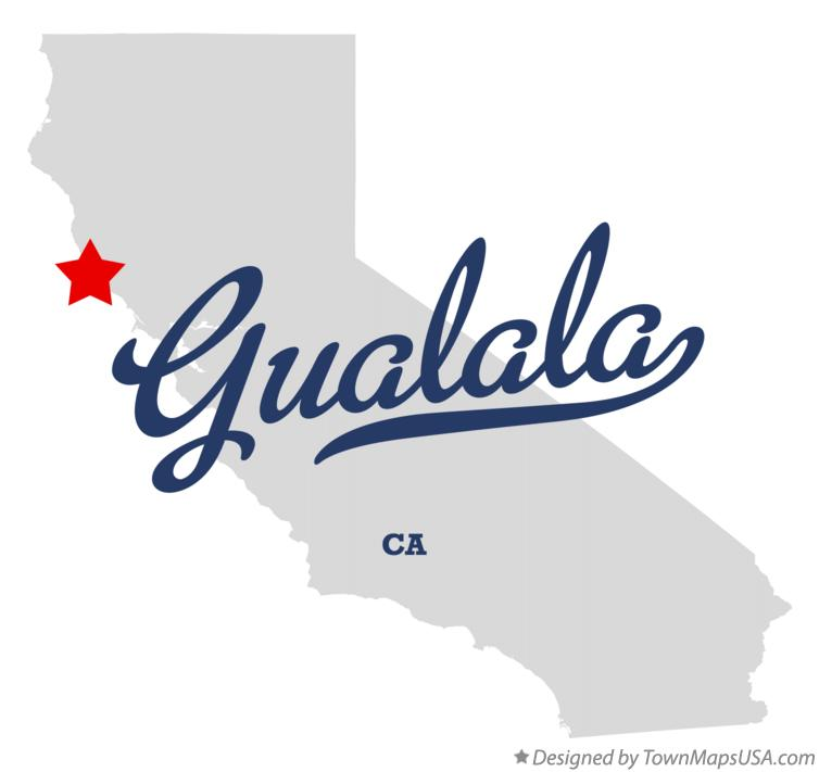Map of Gualala California CA
