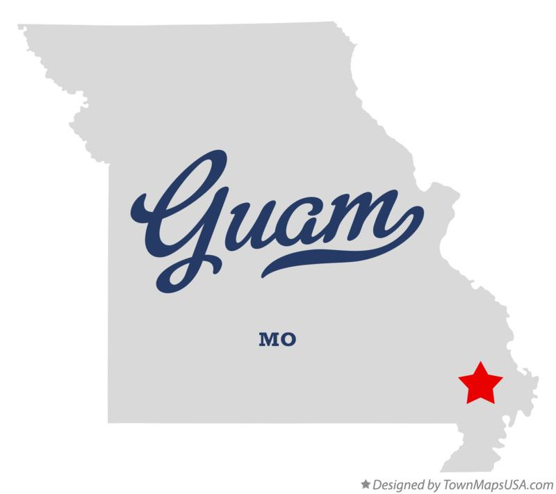 Map of Guam Missouri MO