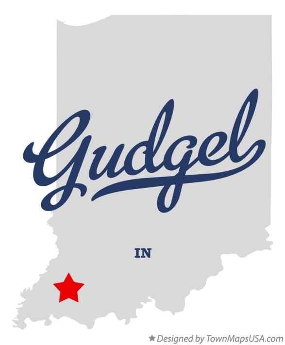 Map of Gudgel Indiana IN