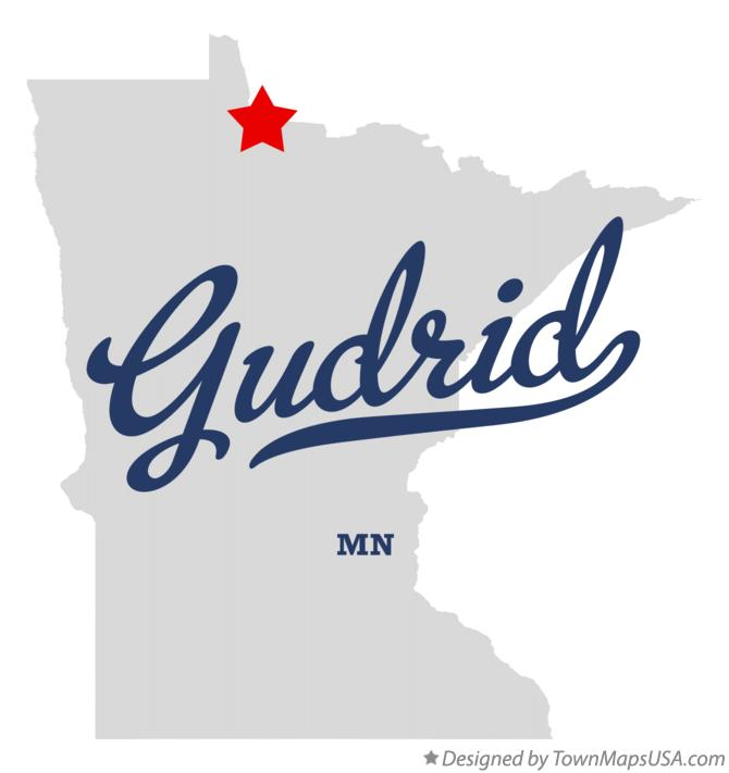 Map of Gudrid Minnesota MN