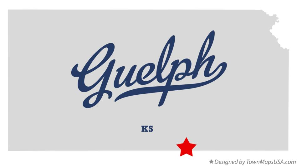 Map of Guelph Kansas KS