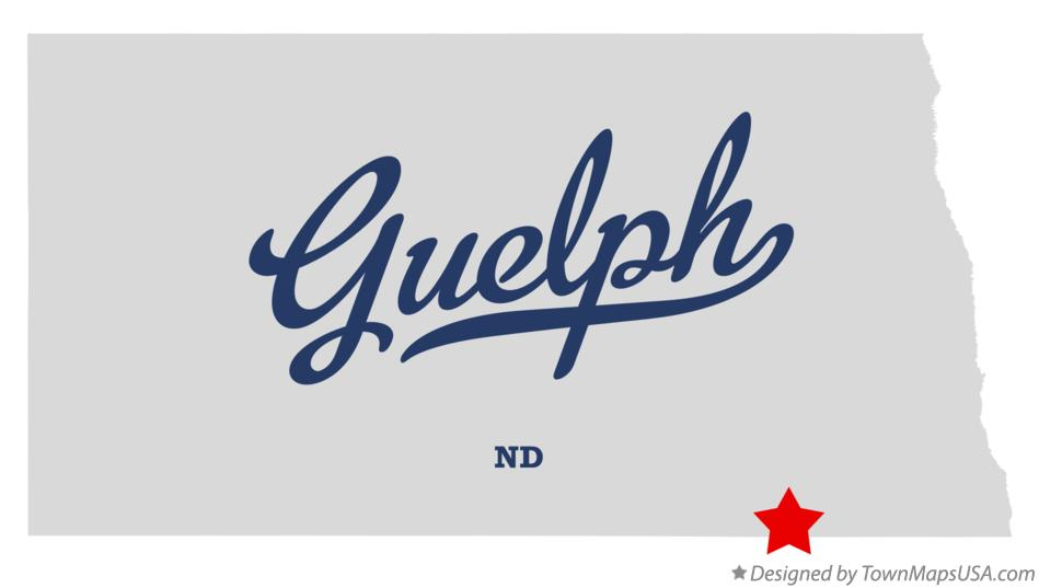 Map of Guelph North Dakota ND