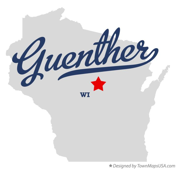 Map of Guenther Wisconsin WI