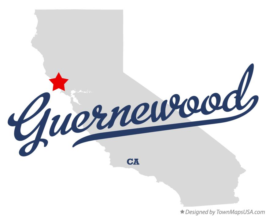Map of Guernewood California CA