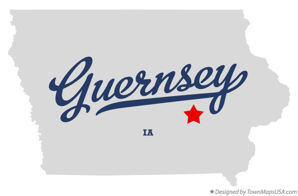 Map of Guernsey Iowa IA