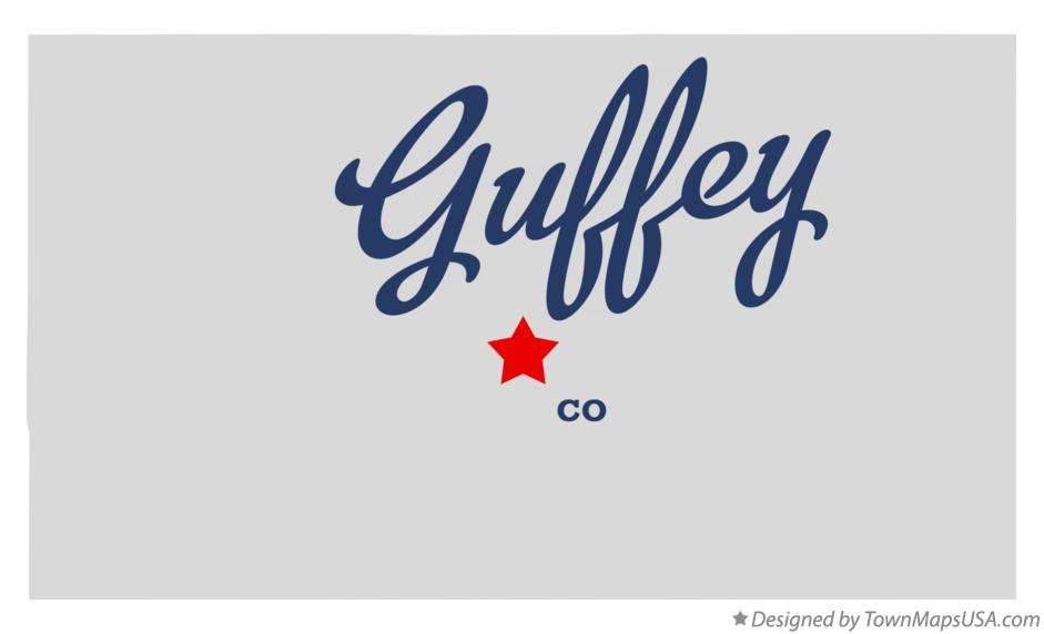 Map of Guffey Colorado CO