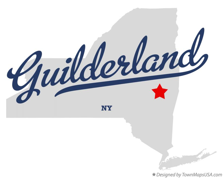 Map of Guilderland New York NY