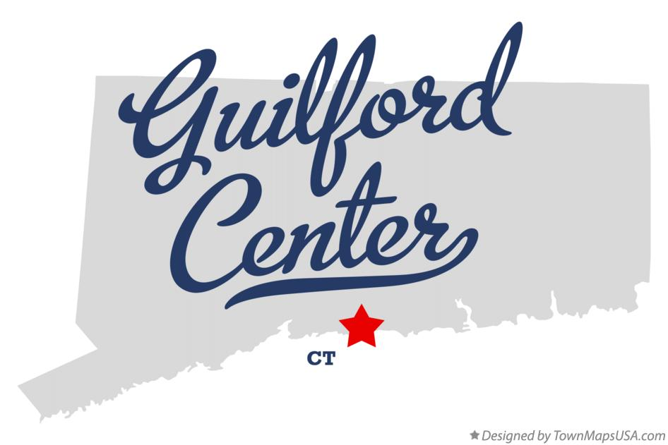 Map of Guilford Center Connecticut CT