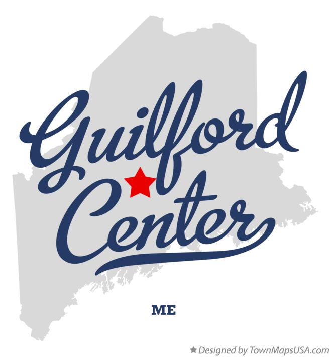 Map of Guilford Center Maine ME