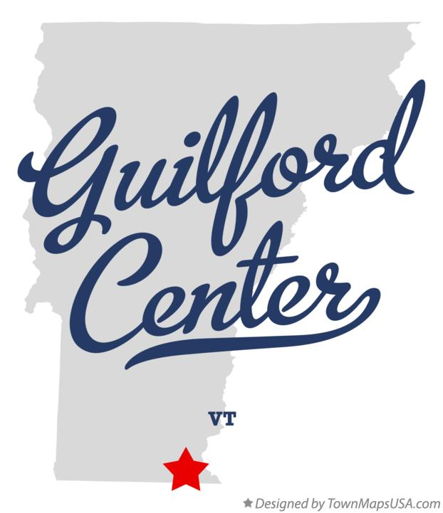 Map of Guilford Center Vermont VT