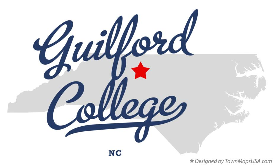 Map of Guilford College North Carolina NC