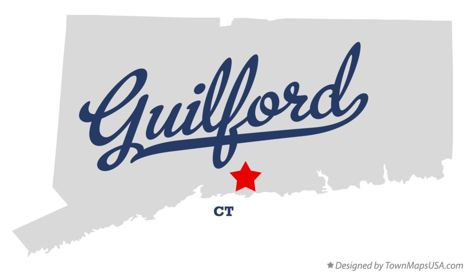 Map of Guilford, CT, Connecticut