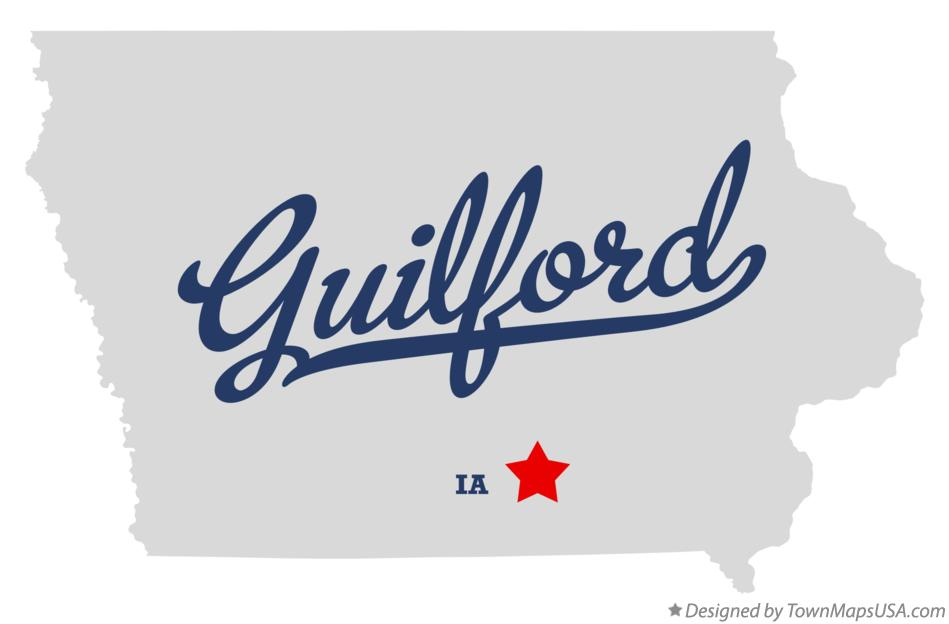 Map of Guilford Iowa IA